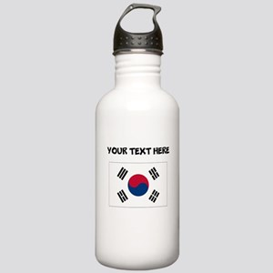 Custom South Korea Flag Water Bottle