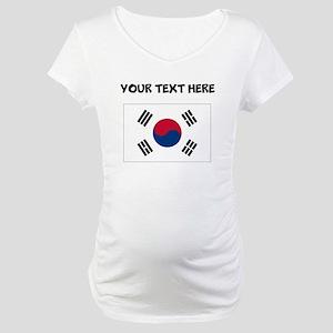 Custom South Korea Flag Maternity T-Shirt
