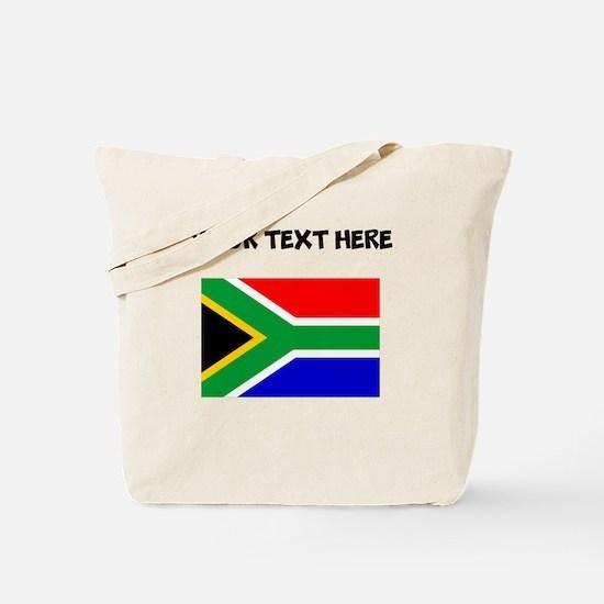 Custom South Africa Flag Tote Bag