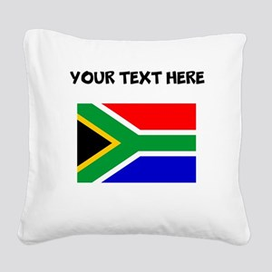 Custom South Africa Flag Square Canvas Pillow