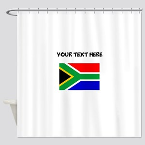 Custom South Africa Flag Shower Curtain
