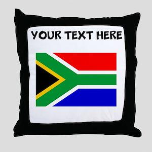 Custom South Africa Flag Throw Pillow