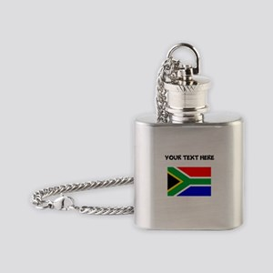 Custom South Africa Flag Flask Necklace