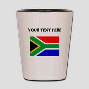Custom South Africa Flag Shot Glass