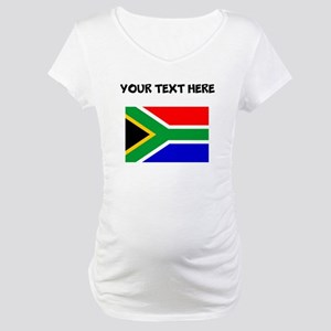 Custom South Africa Flag Maternity T-Shirt
