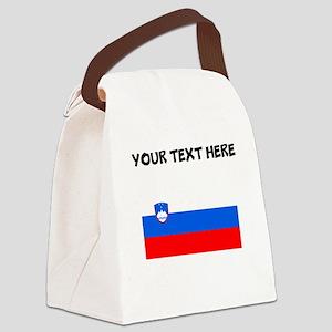 Custom Slovenia Flag Canvas Lunch Bag