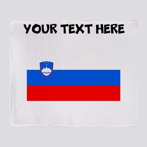 Custom Slovenia Flag Throw Blanket