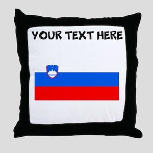 Custom Slovenia Flag Throw Pillow