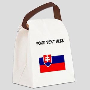 Custom Slovakia Flag Canvas Lunch Bag