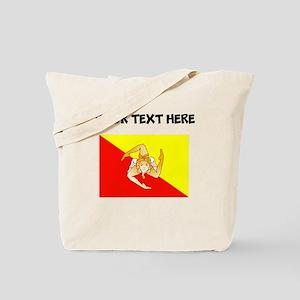 Custom Sicily Flag Tote Bag