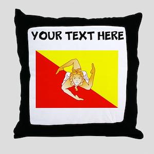 Custom Sicily Flag Throw Pillow
