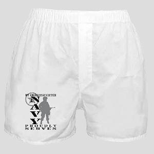 Granddaughter Proudly Serves - NAVY Boxer Shorts
