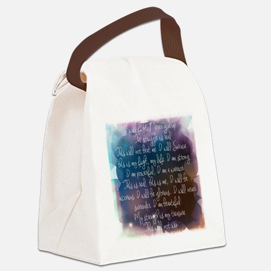 I am beautiful Canvas Lunch Bag