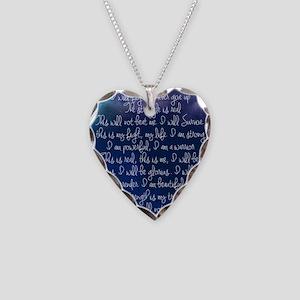 The Struggle, dark blue Necklace Heart Charm