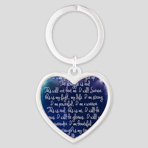 The Struggle, dark blue Heart Keychain