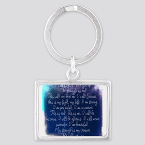 The Struggle, dark blue Landscape Keychain