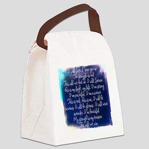 The Struggle, dark blue Canvas Lunch Bag