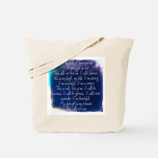 The Struggle, dark blue Tote Bag