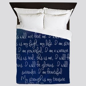 The Struggle, dark blue Queen Duvet