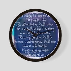 The Struggle, dark blue Wall Clock
