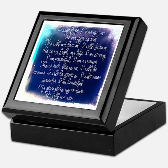 The Struggle, dark blue Keepsake Box