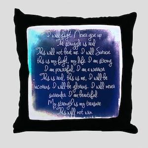 The Struggle, dark blue Throw Pillow