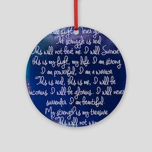 The Struggle, dark blue Ornament (Round)