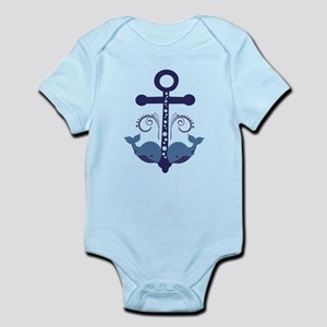 Blue Anchor and Whales Infant Bodysuit