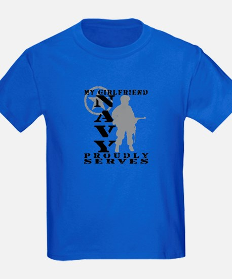 Girlfriend Proudly Serves - NAVY T