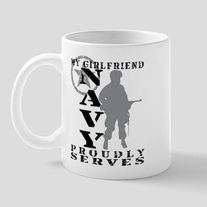 Girlfriend Proudly Serves - NAVY Mug