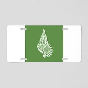 Dark Green Conch shell Aluminum License Plate