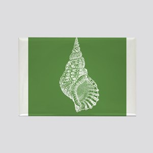 Dark Green Conch shell Magnets
