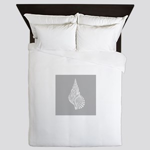 Grey Conch shell Queen Duvet