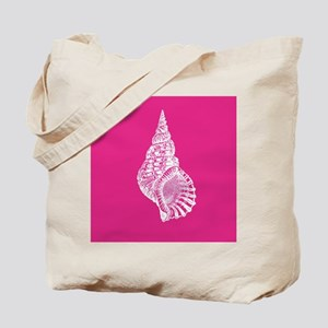 Hot Pink Conch shell Tote Bag