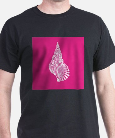 Hot Pink Conch shell T-Shirt