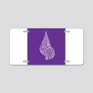 Purple Conch shell Aluminum License Plate