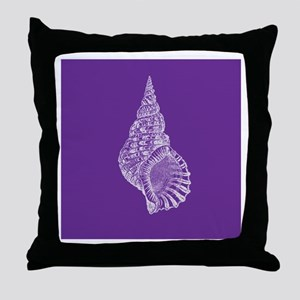 Purple Conch shell Throw Pillow
