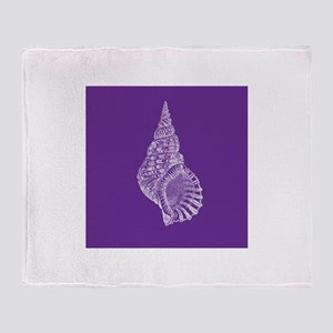 Purple Conch shell Throw Blanket