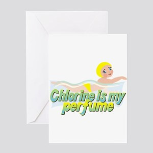 Chlorine is my perfume Greeting Card