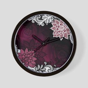 Lace & Roses Wall Clock