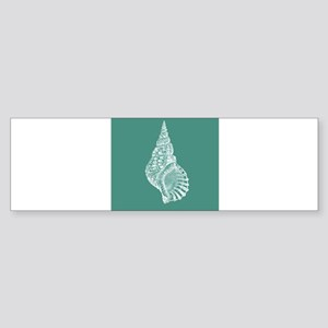 Turquoise Conch shell Bumper Sticker