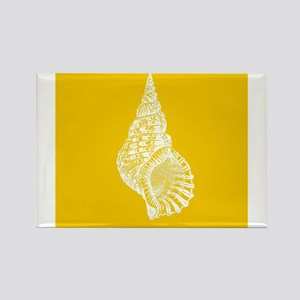 Yellow Conch shell Magnets