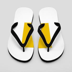 Yellow Conch shell Flip Flops