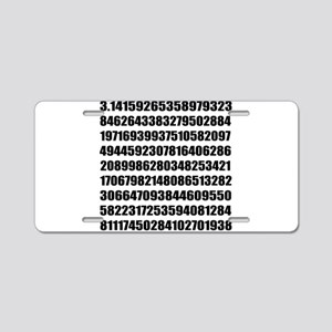 Pi number to many decimal places Aluminum License