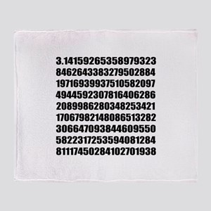 Pi number to many decimal places Throw Blanket