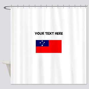 Custom Samoa Flag Shower Curtain
