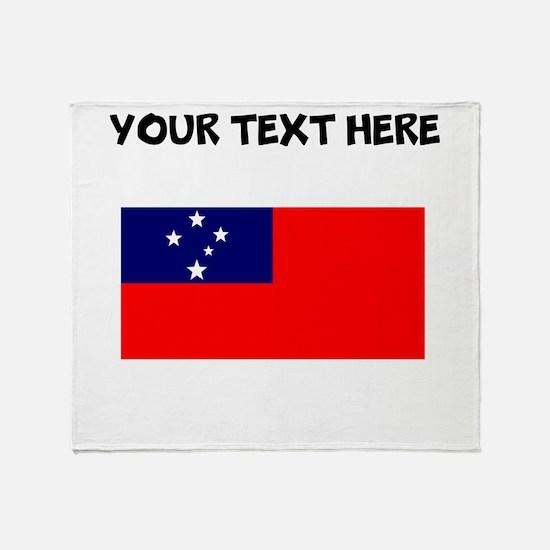 Custom Samoa Flag Throw Blanket