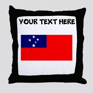 Custom Samoa Flag Throw Pillow