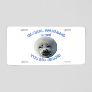 Global Warming Seal Aluminum License Plate
