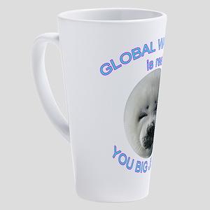 Global Warming Seal 17 oz Latte Mug